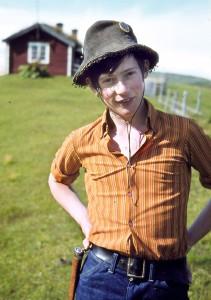 Jan Erik (16) sommeren 1971 på Nystuvollen, Såttåhaugen. Foto: Ingulf Os