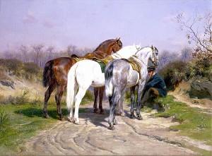 """""""Relay hunting"""" av Rosa Bonheur (Kilde: Wikimedia commons)"""