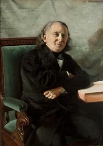 Portrett av Carl Paul Caspari, malt av Asta Nørregaard. Kilde: uio.no