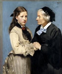 Avskjed av maleren Christian Krogh, født. 1852. Forfatteren tenker seg at det godt kunne vært Rebekkas avskjed med mormoren, bok 1.