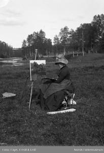 Elisabeth Sinding, ca. 1885.. (Kilde: Digitalmuseum).