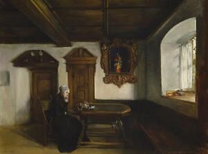 """""""Solitude"""" av Harriet Backer"""