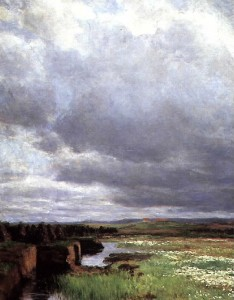 Torvmyr, malt av Kitty Kielland. Kilde: wikimedia common