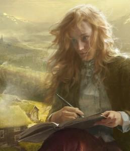 Rosemalt, Rebekka, illustrasjon bok 1