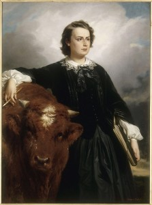 Edouard Louis Dubufe: Rosa Bonheur with bull.1857.