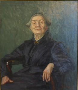 Malerinnen, forfatteren og kvinnesakskvinnen Åsta Hansten,  malt av Marie Hauge. Kilde: tf.uio.no