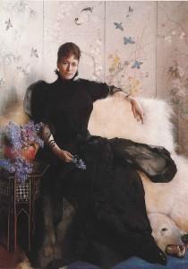 Portrett av Elisabeth Fearnley, av Asta Nørregård 1892. Kilde: Kritikker.wordpress.com. Asta Nørregaard –   (1892)