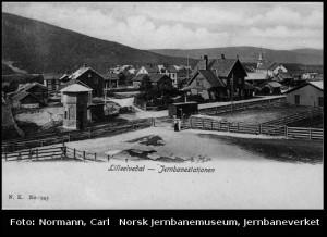 Lilleelvedalen stasjon. Fotograf: Worm-Petersen, Severin, 1910-30. KIlde: Digitalt museum
