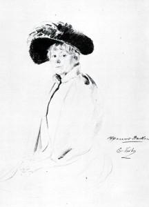 Harriet Backer, tegnet av Christian Krogh