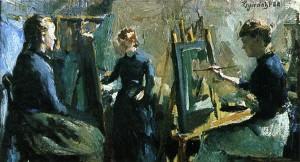"I atelieret av Hans Heyerdahl  1888"" . Kilde: Historieboka.no"