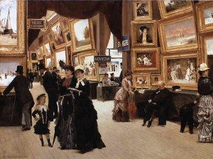 Et glimt av vårsalongen i Paris. Edouard Dantan. (Kilde: Wikimedia commons)